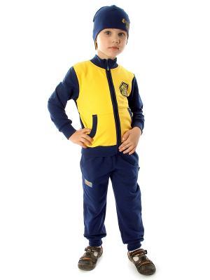 Комплект одежды Апрель. Цвет: темно-синий, желтый