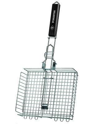Решетка-гриль объемная средняя со съемной ручкой Forester. Цвет: серебристый