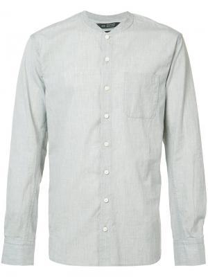 Рубашка с воротником-стойкой Wings+Horns. Цвет: серый