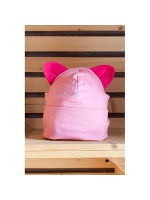 Шапочка с ушками КОШКА Yuumi. Цвет: розовый