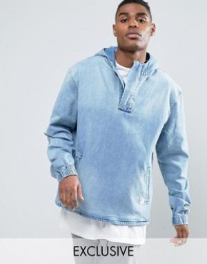 Cayler & Sons Джинсовая куртка через голову с эффектом кислотной стирки Son. Цвет: синий