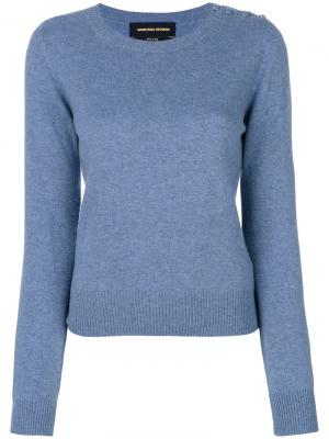 Пуловер с пуговицами на плече Vanessa Seward. Цвет: синий