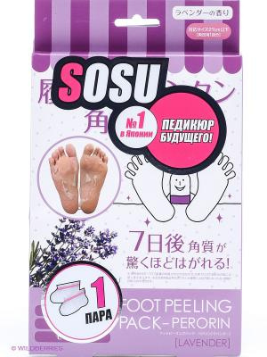 SOSU Носочки для педикюра с ароматом лаванды 1 пара. Цвет: прозрачный
