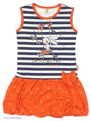 Платье Goldy. Цвет: оранжевый