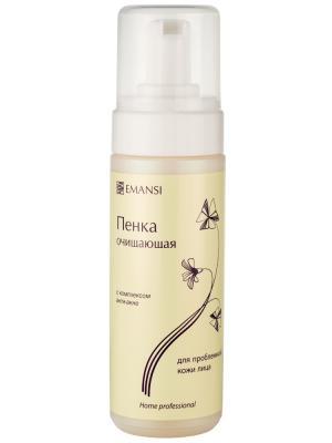 Emansi Пенка очищающая с комплексом Анти-акне для проблемной кожи лица, active, 170 мл. Цвет: белый
