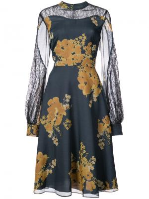 Платье с цветочным принтом Velir Sachin & Babi. Цвет: синий