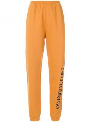 Спортивные брюки No Problemo Aries. Цвет: жёлтый и оранжевый