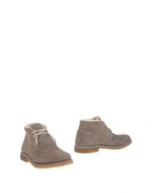 Полусапоги и высокие ботинки PANTOFOLA D'ORO. Цвет: серый