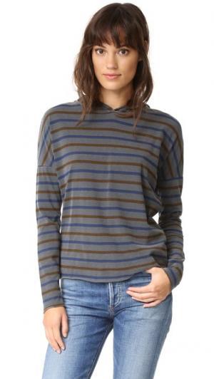 Толстовка в полоску с капюшоном и длинными рукавами Stateside. Цвет: серый