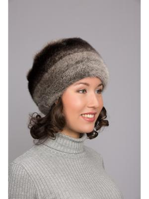 Шапка Slava Furs. Цвет: серый
