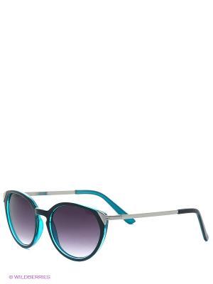 Солнцезащитные очки Oodji. Цвет: черный, бирюзовый