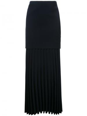 Плиссированная юбка Dion Lee. Цвет: синий