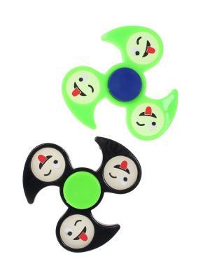 Спиннер, 2 шт. Happy Charms Family. Цвет: черный, зеленый, красный