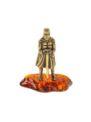 Фигура Рыцарь с мечем без рогов Aztek. Цвет: желтый, коричневый, светло-оранжевый