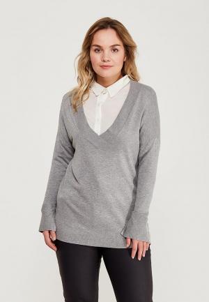 Пуловер Violeta by Mango. Цвет: серый