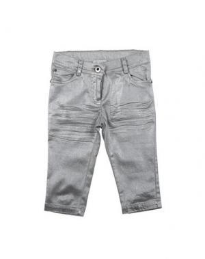 Повседневные брюки LES PARROTINES. Цвет: серебристый