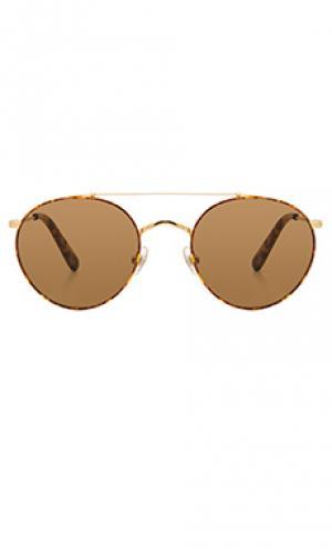 Солнцезащитные очки indio Wonderland. Цвет: металлический золотой