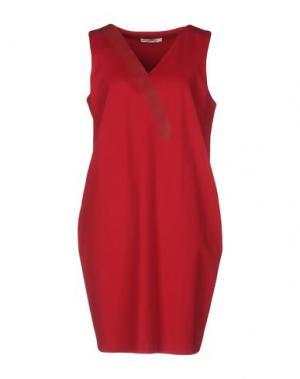 Короткое платье BARBON. Цвет: пурпурный