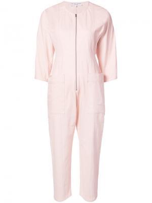Fit Flare Flame Thrower jumpsuit Apiece Apart. Цвет: розовый и фиолетовый
