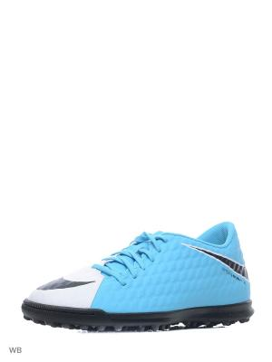 Бутсы HYPERVENOMX PHADE III TF Nike. Цвет: белый