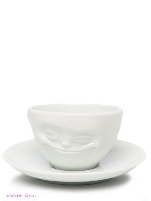 Кофейная пара/МИМИКА: УЛЫБОЧКА/белый Tassen. Цвет: белый