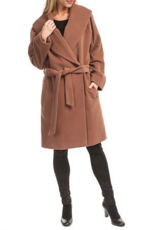 Пальто TOK. Цвет: camel