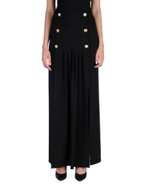 Длинная юбка DANIELA FARGION. Цвет: черный