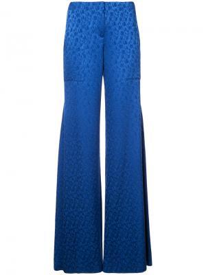 Широкие брюки Hellessy. Цвет: синий
