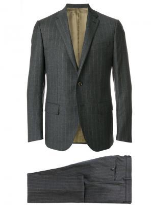 Костюмный пиджак Caruso. Цвет: серый