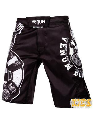 Шорты детские Venum Born To Fight Kids Black/White. Цвет: черный, белый