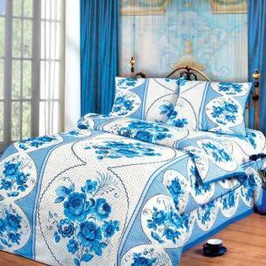 Постельное белье Арт Постель. Цвет: белый, синий, голубой