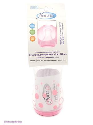 Бутылочка для кормления Nurtria. Цвет: розовый