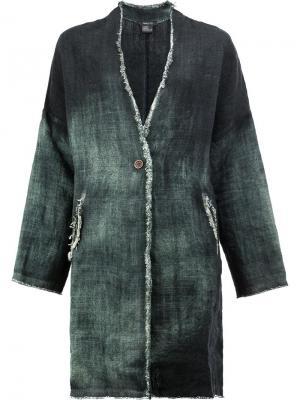 Пальто с эффектом деграде Avant Toi. Цвет: зелёный