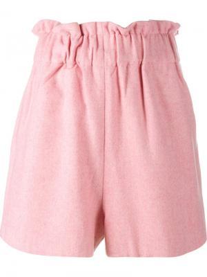 Фетровые шорты Ganni. Цвет: розовый и фиолетовый