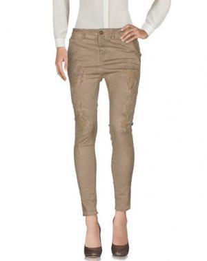 Повседневные брюки AB/SOUL. Цвет: хаки