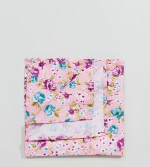 Reclaimed Vintage Розовый платок для пиджака с цветочным принтом Inspi. Цвет: розовый