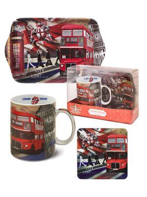 Набор Лондонские Фантазии GiftLand. Цвет: красный, белый, черный, серый, коричневый