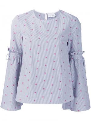 Блузка с цветочной вышивкой Tanya Taylor. Цвет: синий