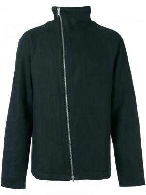 Off-centre zip jacket Manuel Marte. Цвет: серый