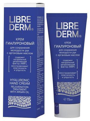 LIBREDERM Гиалуроновый крем для сохранения молодости рук с аргановым маслом 75 мл. Цвет: белый