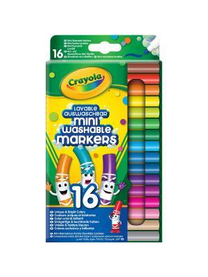 Набор смываемых мини-фломастеров, 16 штук Crayola. Цвет: зеленый
