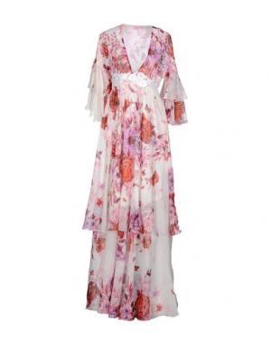 Длинное платье GIAMBA. Цвет: розовый
