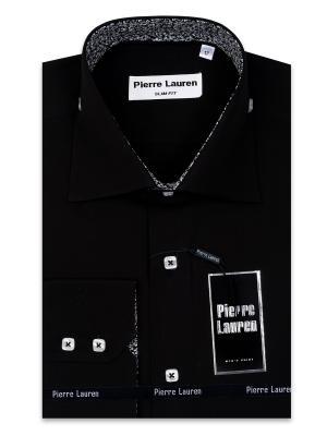 Рубашка Pierre Lauren. Цвет: черный