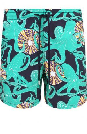 Плавки-шорты с принтом Vilebrequin. Цвет: темно-синий