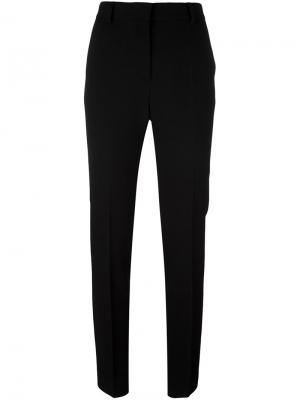 Строгие брюки со складками Alberta Ferretti. Цвет: чёрный