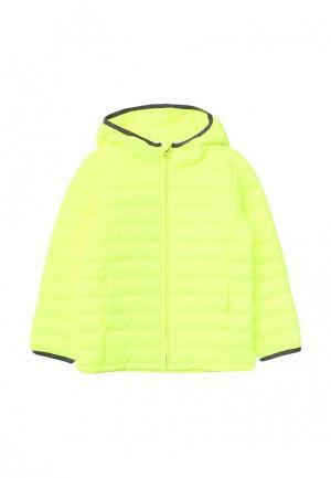 Куртка утепленная Gap. Цвет: желтый