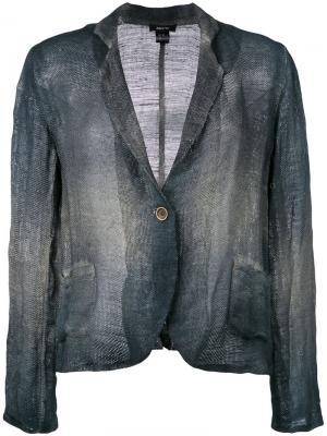Однобортный пиджак с принтом Avant Toi. Цвет: синий