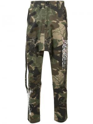 Камуфляжные брюки Haculla. Цвет: зелёный