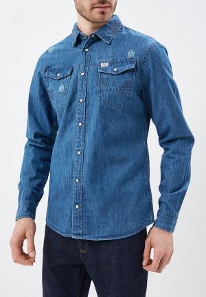 Рубашка джинсовая Blend. Цвет: синий