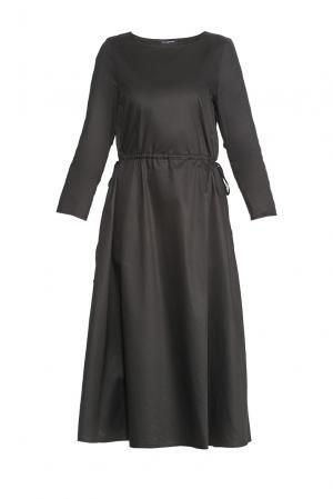Платье из хлопка 173148 Cyrille Gassiline. Цвет: черный